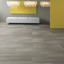 commercial cut pile tufted synthetic carpet tile (Green Label Plus-certified, low VOC emissions) BLUR Shaw Contract