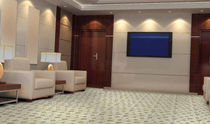 commercial cut pile tufted synthetic carpet tile (Green Label Plus-certified, low VOC emissions) HOSPITALITY Adnc