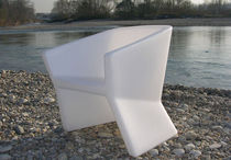 commercial design polyethylene armchair EXOFA by Jorge Nàjera SLIDE