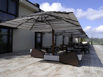 commercial double offset patio umbrella GIGLIO GARDEN ART