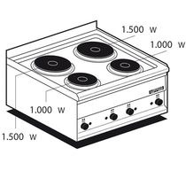 commercial electric range cooker PC-2ET  lotus