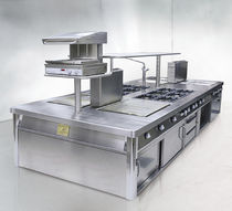commercial fully equipped gas range cooker SERIE 190 ROYAL CHEF de Manincor