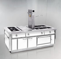 commercial fully equipped gas range cooker SERIE 120 GAS de Manincor