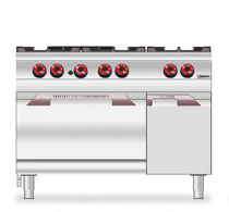 commercial gas range cooker 7CG6FGA desco