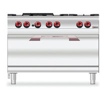 commercial gas range cooker 7CG6FGM desco
