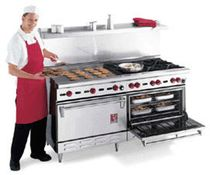 commercial gas range cooker  WOLF