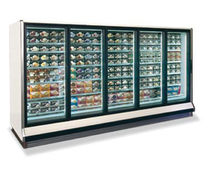 commercial glass door refrigerator RL, RM  Hussmann Corporation