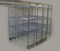commercial kitchen shelf TOP TRACK COMPACTUS Mantova Marketing