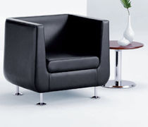 commercial leather armchair HUSH by David Ritch &amp; Mark Saffell Arcadia Contract