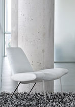 commercial leather bridge armchair MIES by Claudio Dondoli & Marco Pocci  The Chair Factory