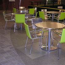 commercial metal look PVC floor tile (FloorScore certified, low VOC emissions) CRESCENT Halo Floors