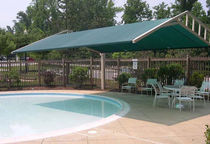 commercial offset patio umbrella RUSSETT COMMONS Apollo Sunguard