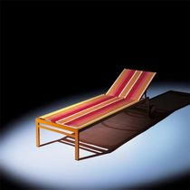 commercial outdoor garden sun lounger with casters NEW YORK Hugonet Contract