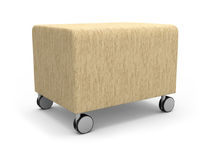 commercial pouf with casters NEIGHBOR™ nurture