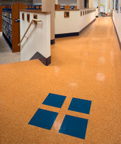 commercial rubber floor tile (FloorScore® certified, low VOC emissions) FIESTA® Roppe Corporation