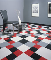 commercial rubber floor tile (FloorScore® certified, low VOC emissions) DESIGNER'S CHOISE® Roppe Corporation
