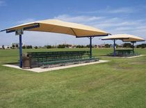 commercial shade cover T-CANTILEVERS Shade Systems