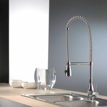 commercial single handle mixer tap with pull out spray for kitchen CONIC Webert