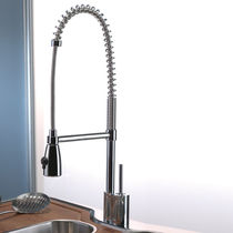 commercial single handle mixer tap with pull out spray for kitchen OMEGA PRO Webert