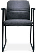 commercial sled base chair BOUNCE by Don Albinson Stylex
