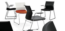 commercial sled base chair B_SIDE Bene