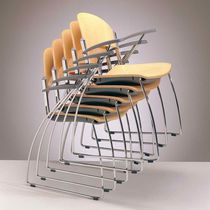commercial stacking chair  CHORUS by Lucci & Orlandini MASCAGNI