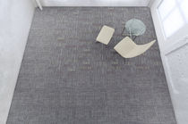 commercial tufted and loop pile synthetic carpet tile (Green Label Plus-certified, low VOC emissions) SEQUEL - MODULAR Milliken Contract