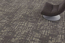 commercial tufted and loop pile synthetic carpet tile (Green Label Plus-certified, low VOC emissions) HORSESHOE  Milliken Contract