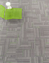 commercial tufted and loop pile synthetic carpet tile (Green Label Plus-certified, low VOC emissions) BACKBEAT - MODULAR Milliken Contract