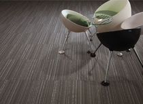 commercial tufted and loop pile synthetic carpet tile (Green Label Plus-certified, low VOC emissions) LINEAR  Carpets Inter