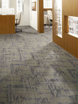 commercial tufted and loop pile synthetic carpet tile (Green Label Plus-certified, low VOC emissions) PLAY OF LIGHT : FILTERING THROUGH MODULAR  Lees