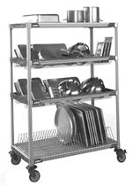commercial utility trolley for dishwasher racks DRYING METRO SHELVING TRUE