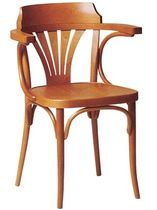 commercial wood chair with armrests T-07 Beaufurn (BFP)