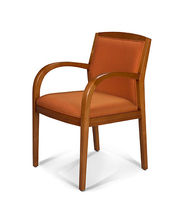 commercial wood chair with armrests JOSH jack cartwright