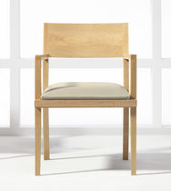 commercial wood chair with armrests MITRE by Gary Lee Partners Halcon