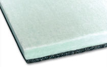 composite semi-rigid insulation panel in rubber and polyester fibers BIWALL LINE Isolgomma