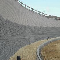 concrete block for retaining walls TENSARTECH TW1 Tensar International
