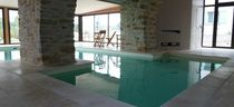 concrete indoor swimming pool HAMMAM DESJOYAUX PISCINES