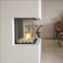 contemporary 3 sided fireplace (gas closed hearth) CLEAR 40 TS Ortal USA