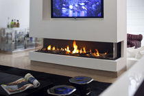 contemporary 3 sided fireplace (gas closed hearth) CLEAR 200 TS Ortal USA
