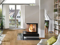 contemporary 3 sided fireplace (wood-burning closed hearth) 1/168.0 Hark GmbH & Co. KG
