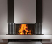 contemporary 3 sided fireplace (wood-burning closed hearth) HEAT PURE 90 Kal-fire