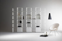 contemporary aluminium bookcase (finish in natural paint) CWAVE by Gianmarco Blini Dieffebi