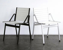 contemporary aluminium chair by Andreas Christen  Lehni