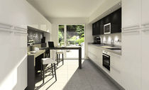 contemporary aluminium kitchen H20 Hardy Inside