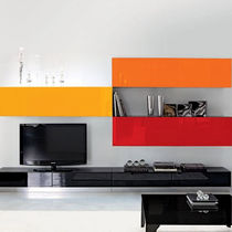 contemporary aluminium TV wall unit TETRIS unico italia
