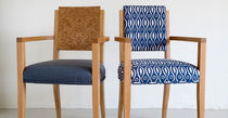 contemporary armchair in certified wood (FSC-certified) NORMANDIE-BURR BACK by Terence Conran BENCHMARK