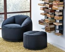 contemporary armchair with footstool ISLAND by C.Dondoli & M.Pocci PEDRALI
