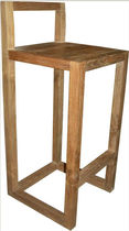contemporary bar chair in recycled teak LINEAR : 40x40x95 Indo Trading Premium