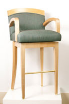contemporary bar stool in recycled fabric and certified wood (FSC-certified) LARGO LauraBirnsDesign Eco-Furnishings, LLC
